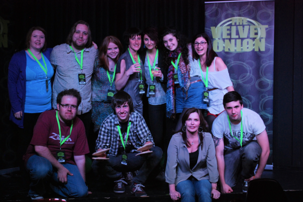 The team at The Velvet Onion Live, May 2012.