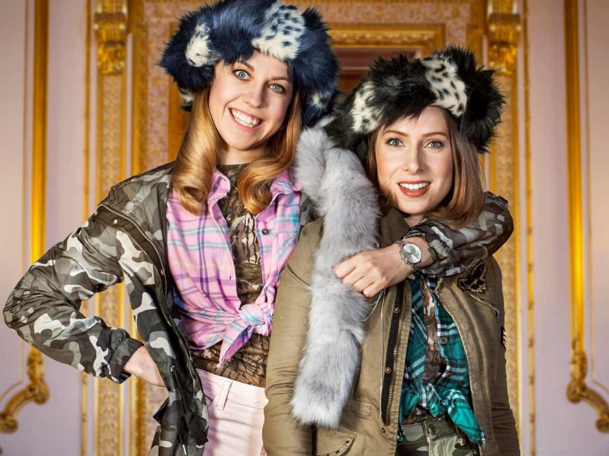 Ellie White & Celeste Dring in character for The Windsors.