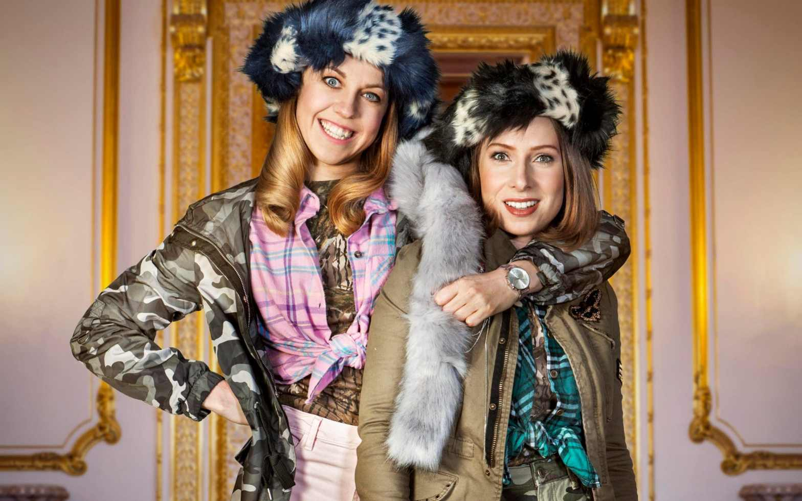 Ellie White & Celeste Dring in character for The Windsors.