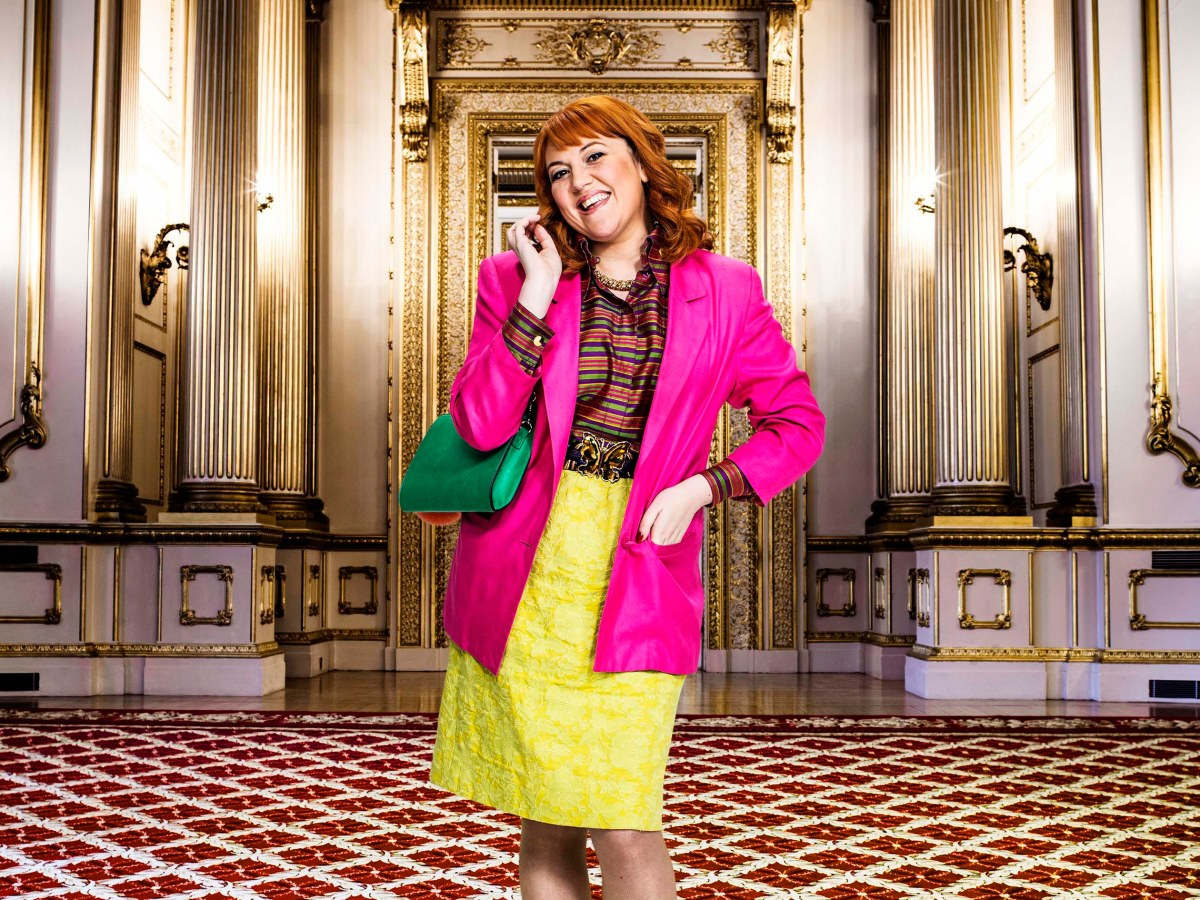 Katy Wix as Fergie in The Windsors.