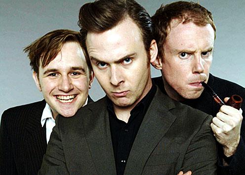 Portrait of Fergus Craig, Colin Hoult and David McNeill.