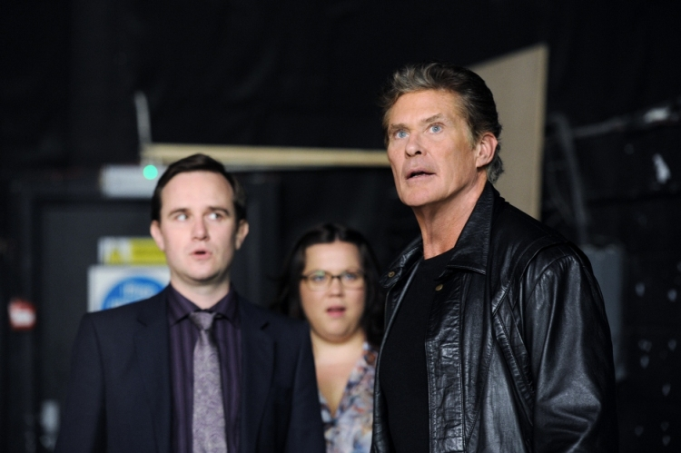 The cast of Hoff the Record.